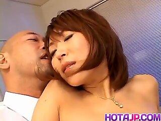Jun Kusanagi Asian maid gets anal fingering before suck