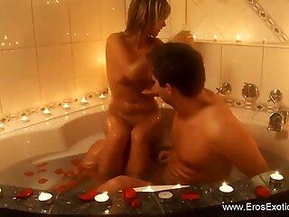 Blonde Lover Seduces Her Man