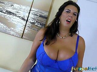 EuropeMaturE Busty Mature Lulu Lush and Huge Boobs