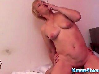 Granny Gives a Bj While Smoking