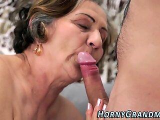 Hairy grandma gets banged