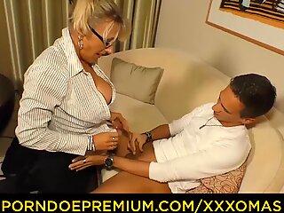 XXX OMAS - German blonde Milf Lana Vegas fucked doggy by young boy