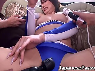 Nasty Japanese whore is the main star of this bukkake party