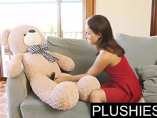 Petite Alaskan teen girl Jenny Ferri sex with teddy bear