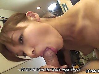 Nasty Japanese sluts enjoying group sex