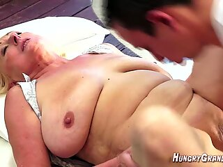 Rich Granny Pays Him To Fuck