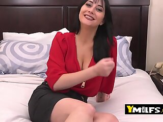 Allesandra strips down for horny lover to pound her like a slut