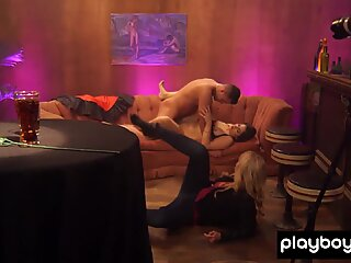 Chubby Claudia and her lover making their first video