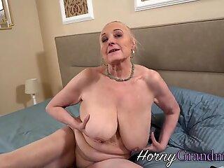 Granny gets creampied