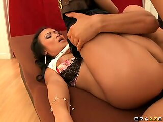 Mya Luanna nailed hard by horny guy on couch