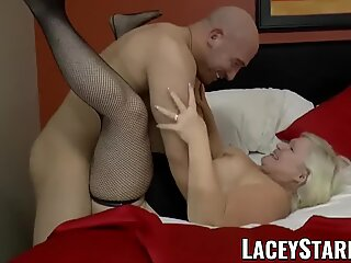LACEYSTARR - GILF tempts meaty dicked wolf into hard pounding