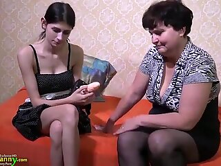 OldNannY meaty Compilation of lesbo sex Toy Play