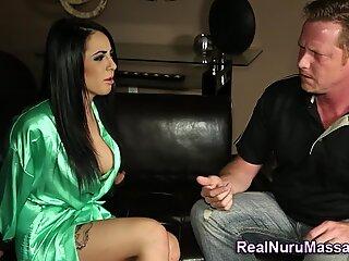 Kinky nuru babe pounded