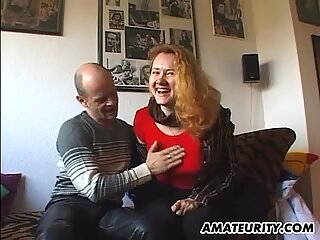 Shy busty amateur girlfriend with a huge sextoy
