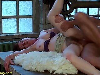 extreme hairy german milf fucked