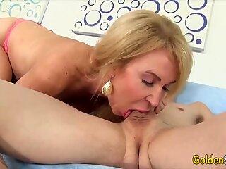 Golden Slut - Amazing Granny Erica Lauren Compilation Part 4