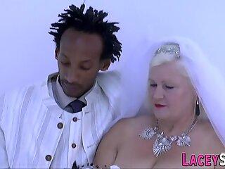 Granny brides rides cock