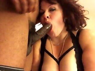 Chubby BBW MILF Sucks And Fucks BBC