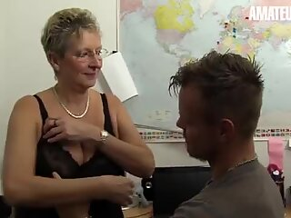 AMATEUR EURO - German Dirty Granny Erna Is In For Some Hot Office Sex