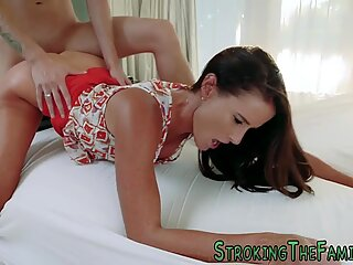 Horny stepmom riding cock