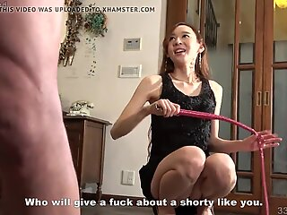 Japanese mistress Risa whipping a domestic slave