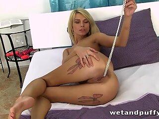Karina Grand masturbates with her sex toys