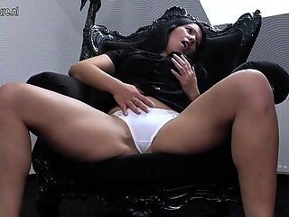 Amateur mother with favourite toy