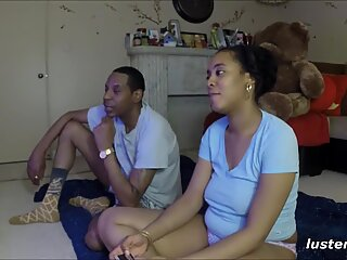 Playful Couple Enjoy Strip Mario Bros