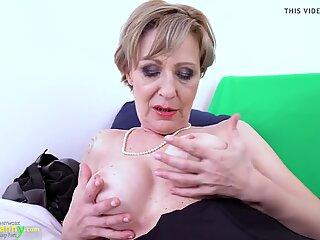 OldNannY Lusty grandmother Milena Solo frolicking Showoff
