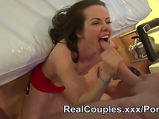 A real duo have sex while being filmed for a webcam chatroom