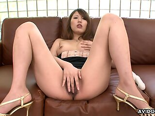 Eating the dude's ass as she strokes on his dick