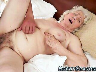 Old grandma sucks cock