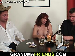 Card game leads to mature double penetration