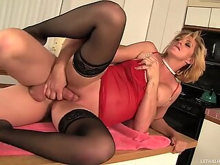 Perfect rimjob was given by Roxanne Hall to her mate Evan Stone