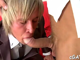 Cute fellow gets an indecent rimming from horny hunk