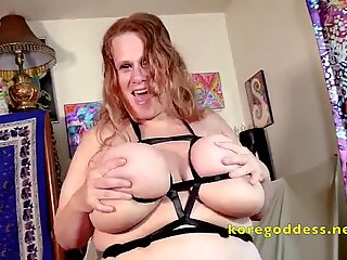 Huge belly and massive tits wife enjoying her covid lockdown