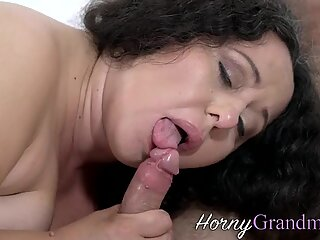 Fat granny licked out