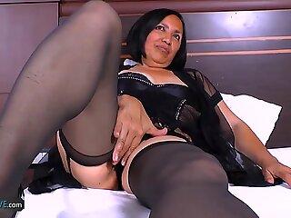 AgedLovE Horny Mature Latina Chick Hardcore Sex