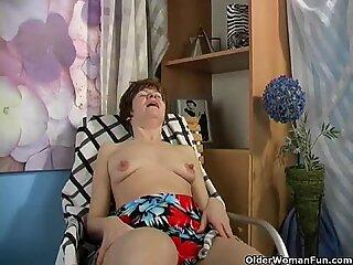 Granny Anna has long and suckable nipples