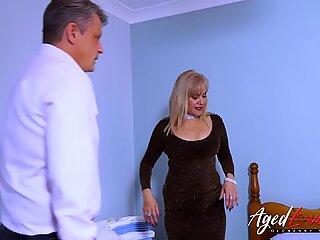 AgedLovE Busty Blonde Fucking Businessman Hard