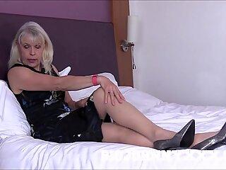 dirty old hot granny gilf lady sextasy fucks toyboy big cock in stockings!
