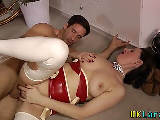 Older lingerie brit jizzy