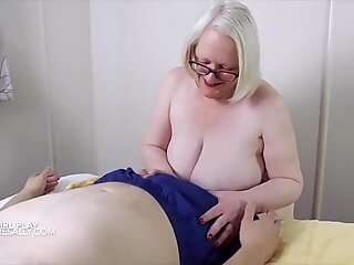 Sally playing with cock