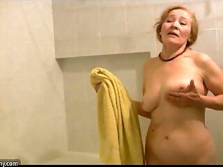 OldNanny Old skinny woman masturbating and sucking dick