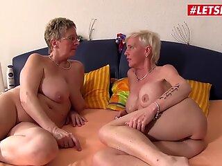 LETSDOEIT - Horny German Grannies Lesbian Threesome Sex