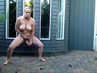 Naked in the front yard