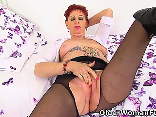 Over 60 Sensual Caroline'_s sex drive is still going strong