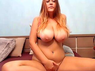 stellar ginger-haired finishes off on Webcam