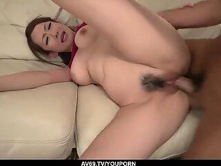 Busty Asian milf, Reon Otowa, hard fucked at home - More at 69avs.com