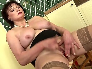 Sweet MOM with big saggy tits and wet cunt